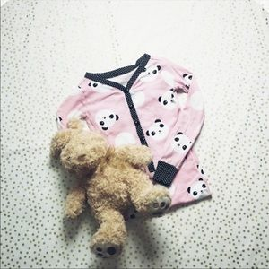 The Childrens Place Pink with Blk and Whit Pajamas